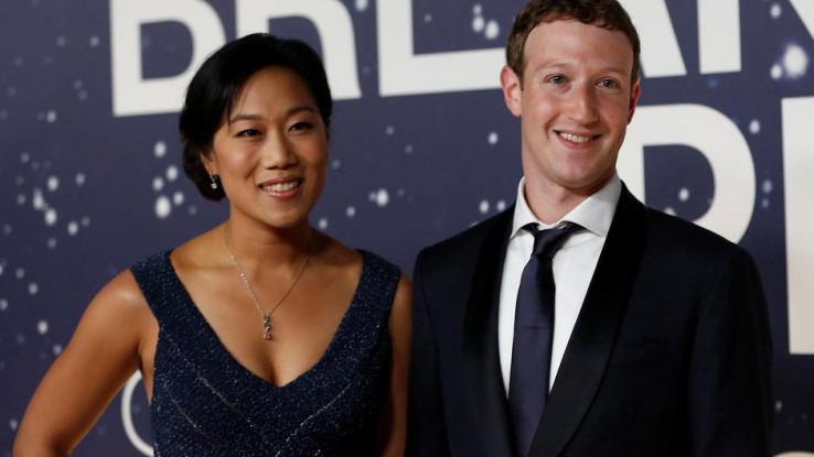 Priscilla Chan sa suprugom