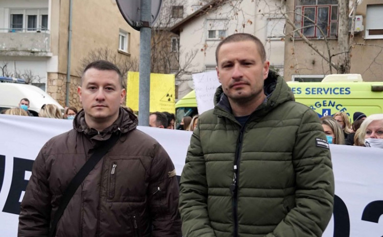 Vuković: On this occasion, we can also announce setting up a tent settlement, after that we will go before the HNC Assembly, and after that, if our demands are not adopted soon, we will go on a hunger strike