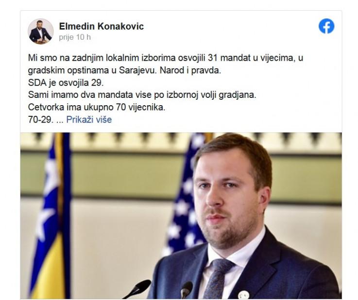 Konakovićev status