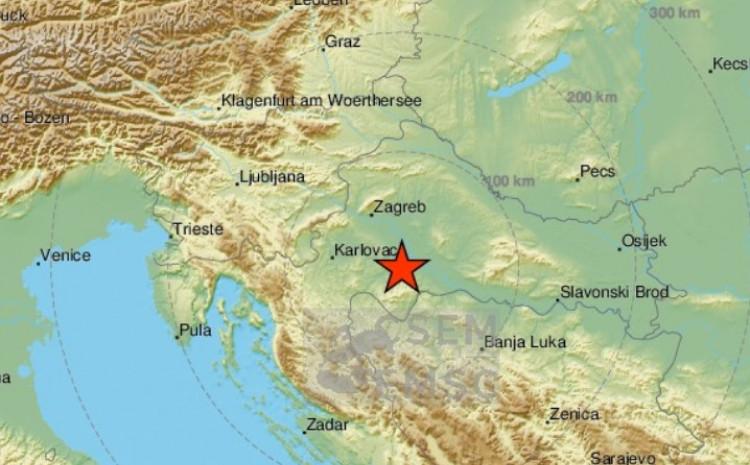 Drugi zemljotres je bio u blizini Gline