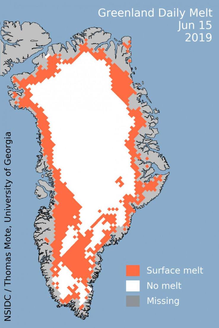 45% Grenlanda se topilo 15. juna 2019. godine