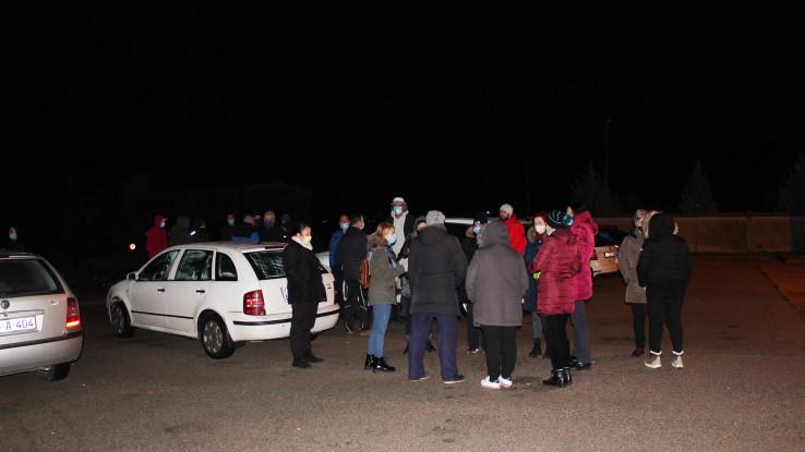 S blokade: Okupili se u šest sati