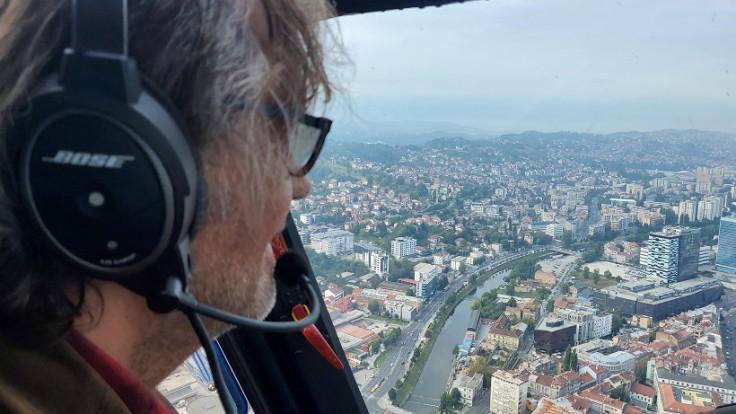 Kusturica u helikopteru iznad Sarajeva