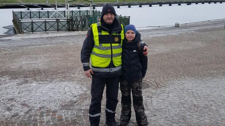 Amir Palislamović i dječak kojeg je spasio