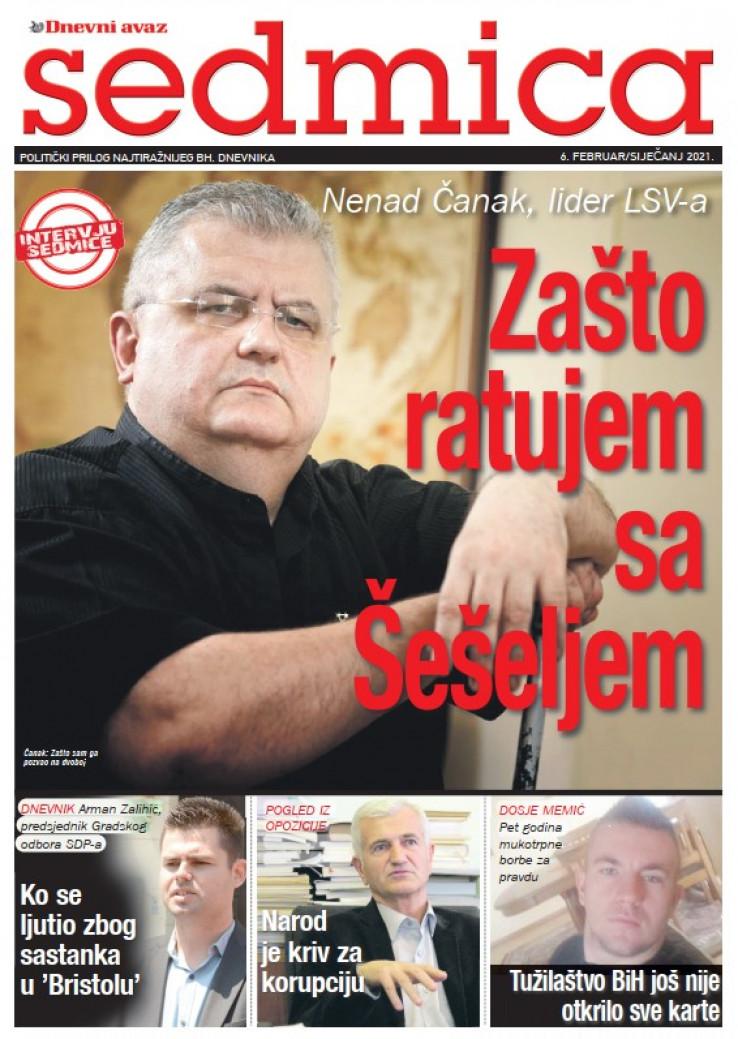 "Naslovna strana poklon priloga ""Sedmica"""
