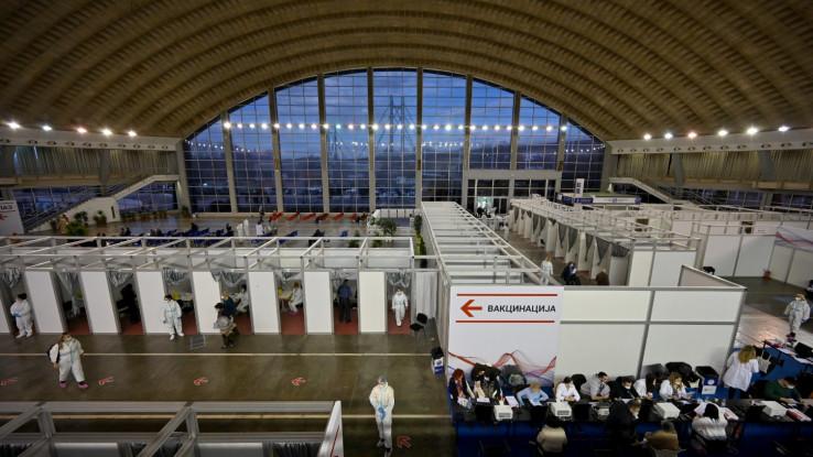 Betonska dvorana beogradskog sajma mjesto vakcinisanja građana