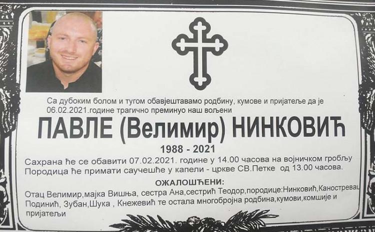 Danas sahrana Pavlu Ninkoviću
