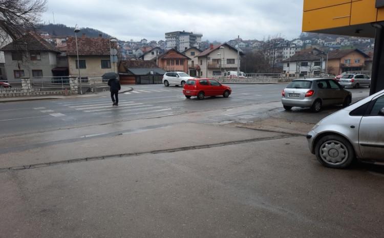 Mjesto gdje se dogodila saobraćajna nesreća