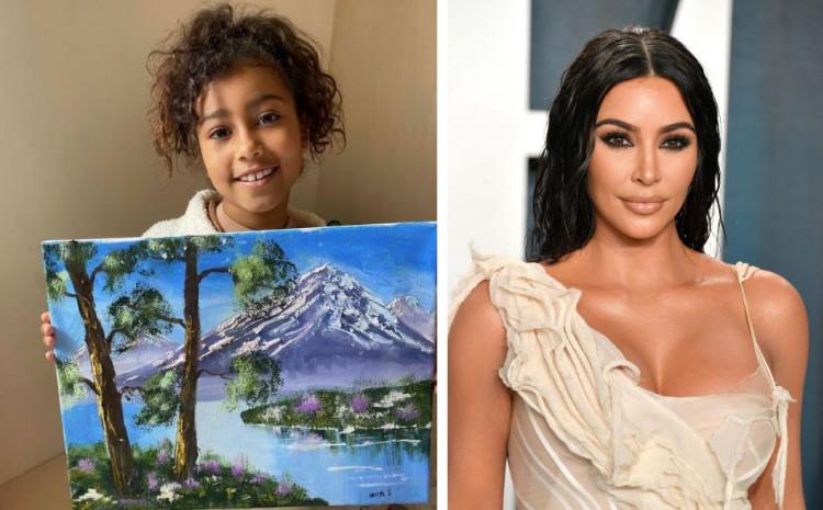 Kim i North Kardashian