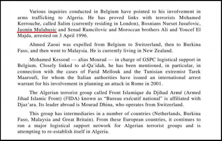 Faksimil 13. stranice Izvještaja gdje se navodi i ime Jasmina Mulahusića