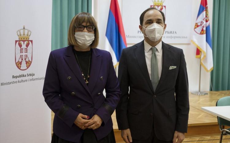 Gojković i ambasador Bilgic su se osvrnuli i na intenzivnu saradnju u prethodnom periodu