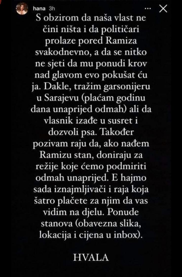 Poziv Hane Hadžiavdagić Tabaković