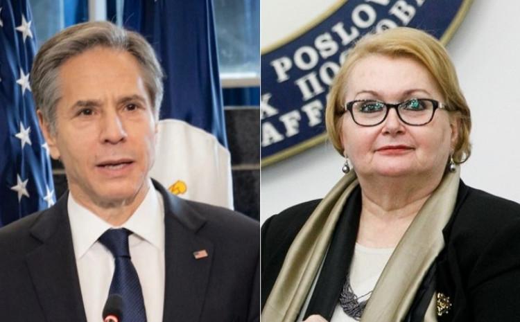 US Secretary of State, Antony J. Blinken and B&H Foreign Minister Bisera Turković