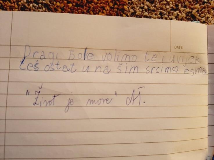 Poruka sedmogodišnje djevojčice