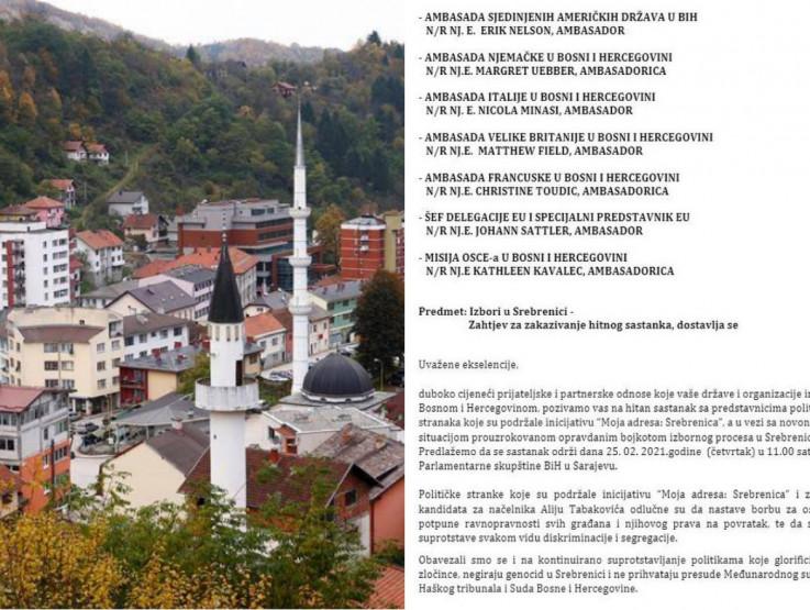 Probosanske stranke traže hitan sastanak sa ambasadorima zbog Srebrenice