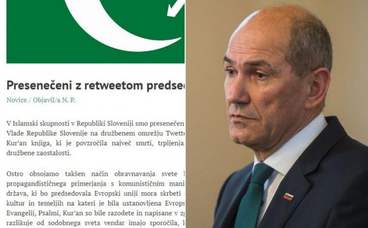 Islamska zajednica osudila premijera Janšu