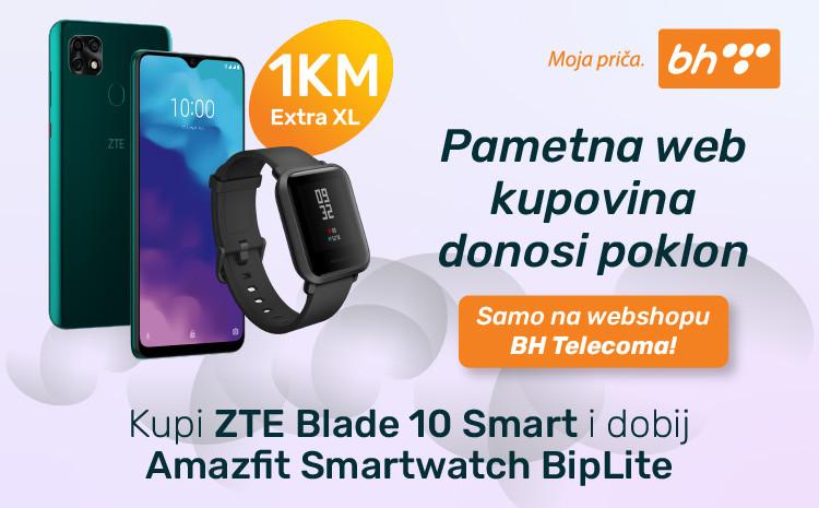Super ponuda na BH Telecom Web shopu: Kupovinom ZTE Blade 10 Smart telefona na poklon dobijate pametni sat