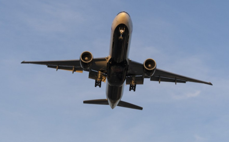 Online flight trackers confirmed the flight was carried out with a Boeing 777