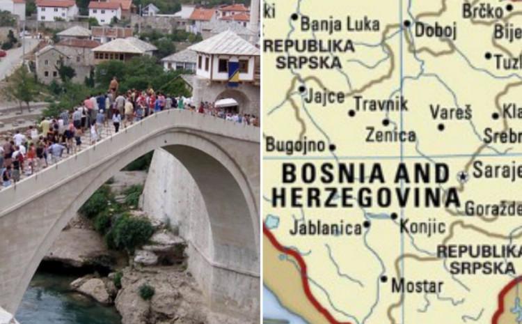 Mostar i karta BiH