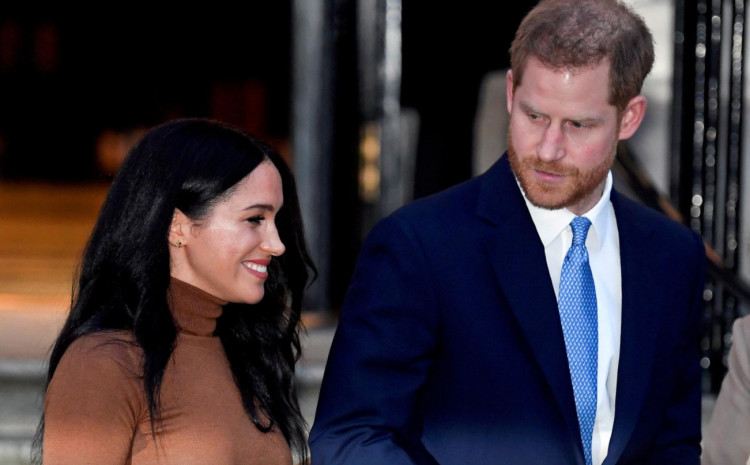 Britain's Prince Harry and his wife Meghan, Duchess of Sussex, leave Canada House in London, Britain January 7, 2020.