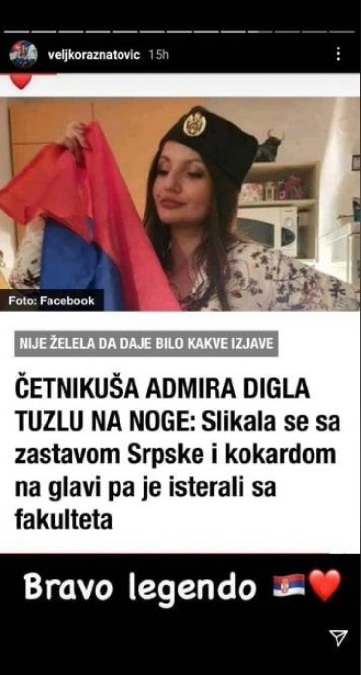 Objava Ražnatovića na Instagramu