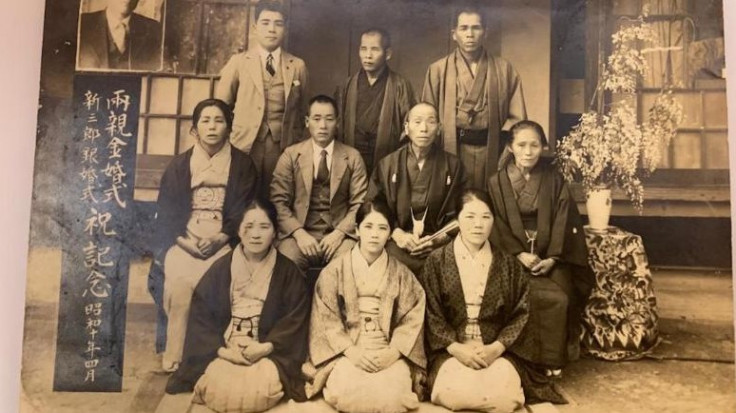 Kane Tanaka, age 32 in 1935, is pictured in the center of the front row