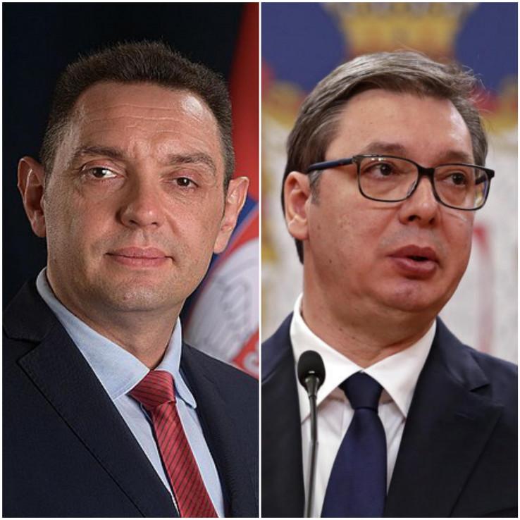 Ministar unutrašnjih poslova Srbije Aleksandar Vulin i predsjednik Srbije Aleksandar Vučić