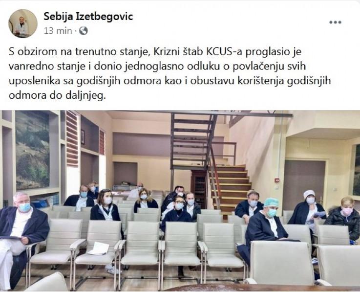 Vijest na Facebooku potvrdila Izetbegović