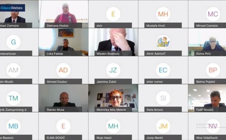 Sjednica se održava u online formatu