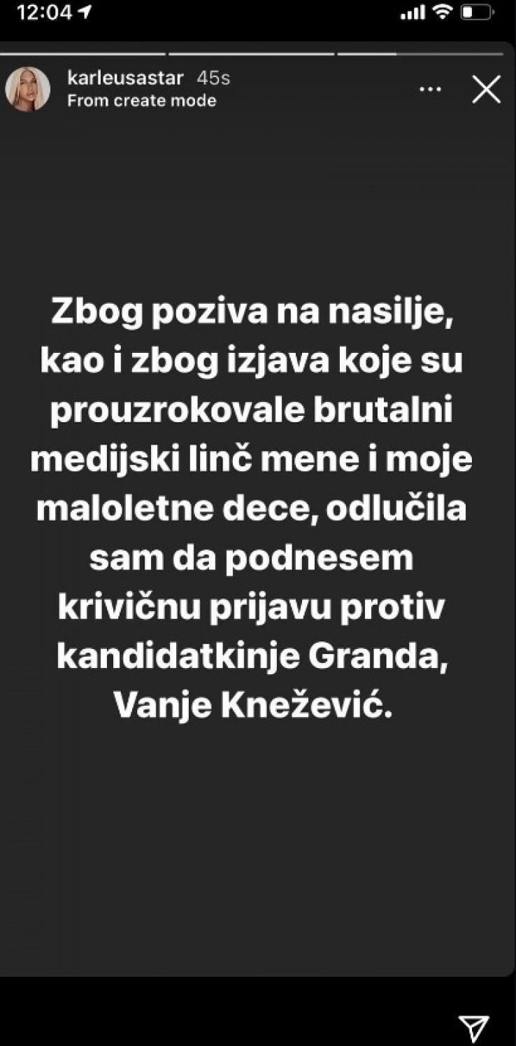 Objave Jelene Karleuše