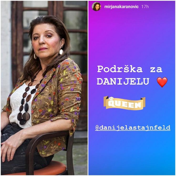 Mirjana Karanović podržala Danijelu Štajnfeld