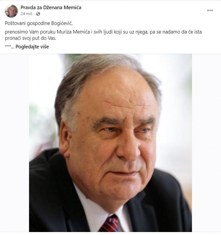 Memić podržao Bogićevića