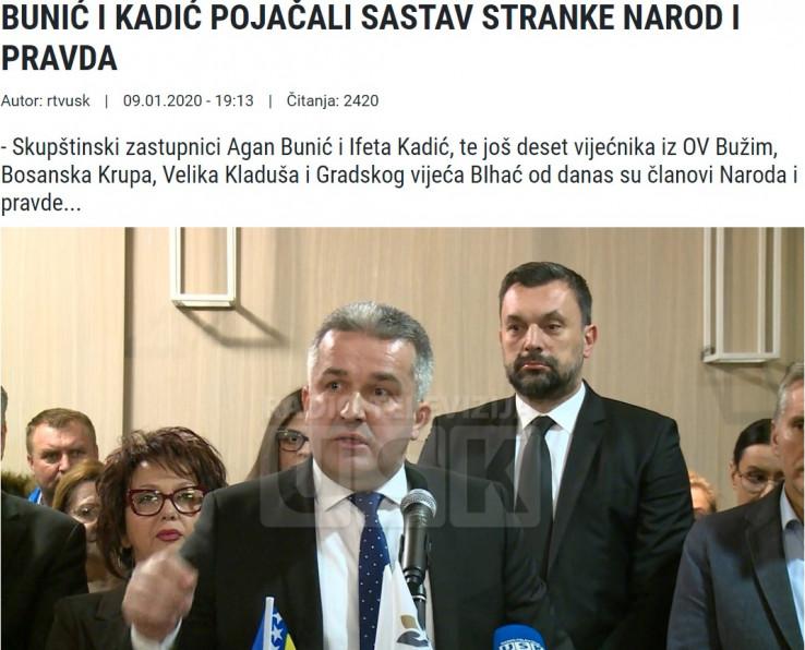 Medijski izvještaj sa događaja pristupanja Agana Bunića Narodu i pravdi