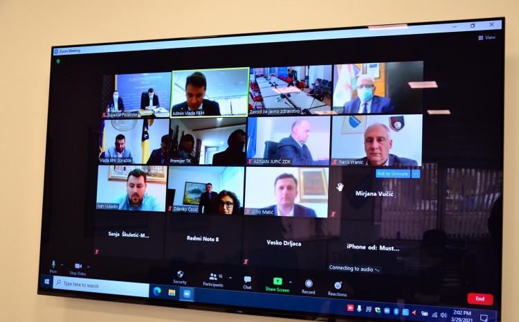 Danas je održan sastanak putem video linka