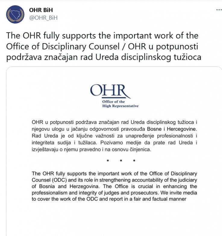 Objava OHR-a