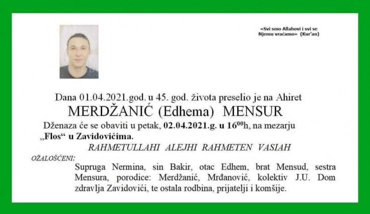 Smrtovnica Mensura Merdžanića