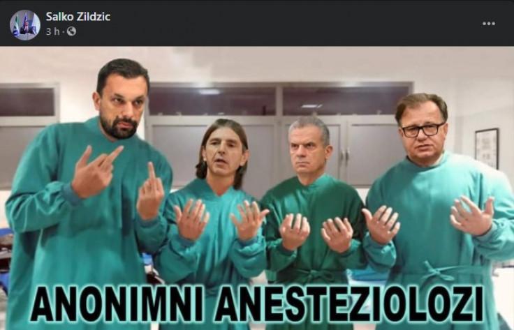 Objava Salke Zildžića na Facebooku