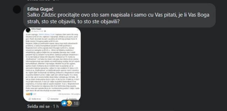 Odgovor Emine Gugać