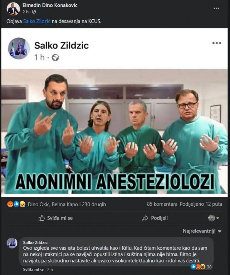 Objava Salke Zildžića