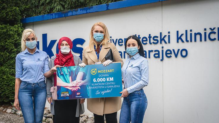 Donacija Mozzarta UKC Sarajevo