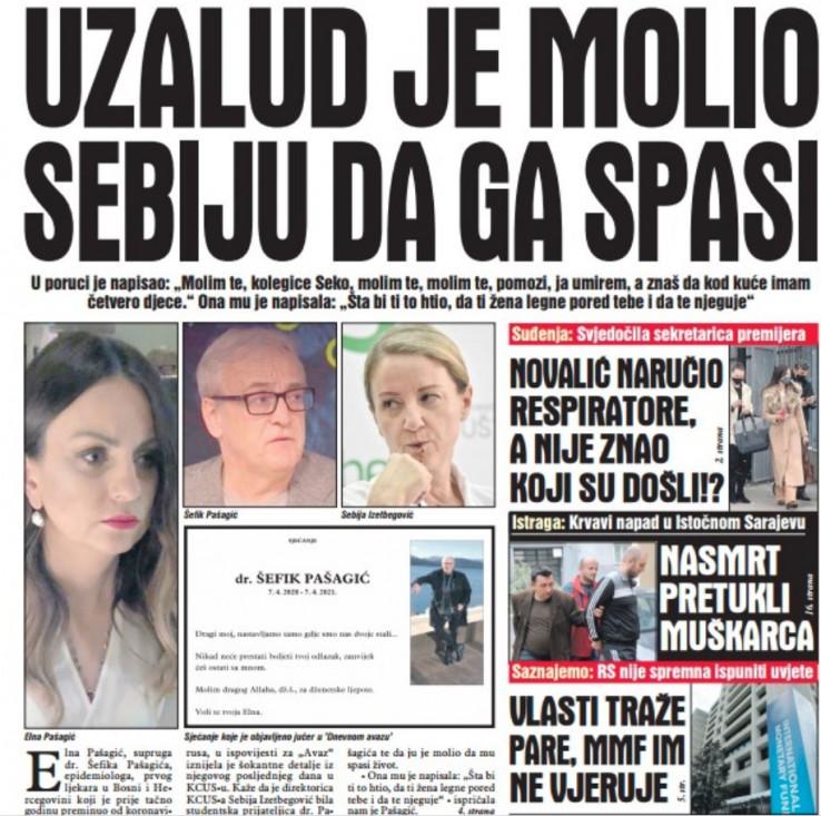 """Današnje izdanje """"Dnevnog avaza"""" potražite na kioscima širom BiH"""