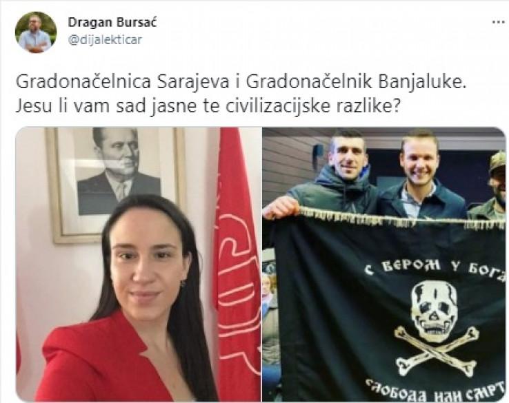 Tvit Dragana Bursaća
