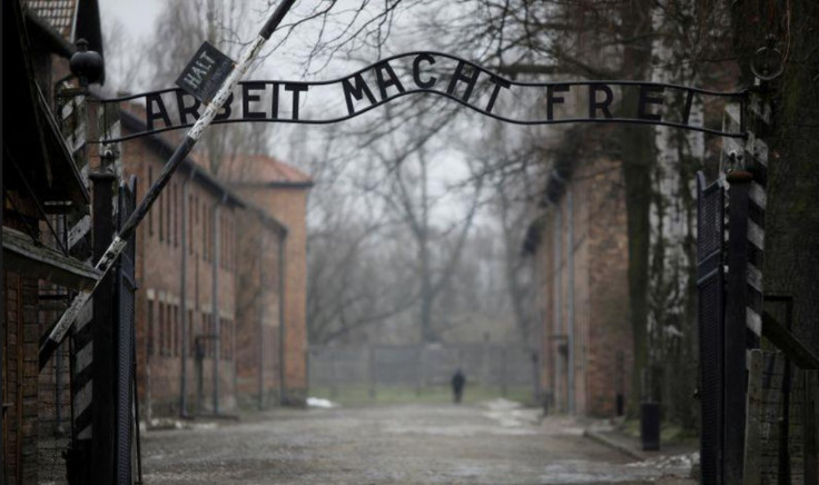 """The """"Arbeit macht frei"""" (Work sets you free) gate is pictured on the site of the former Nazi German concentration and extermination camp Auschwitz, empty due to COVID-19 restrictions, two days before the 76th virtual anniversary of the liberation of the camp in Oswiecim, Poland, January 25, 2021. Picture taken January 25, 2021."""