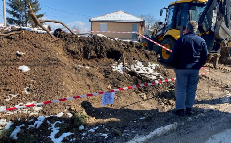 The site is being secured by police officers from the Sarajevo Canton Ministry of Interior