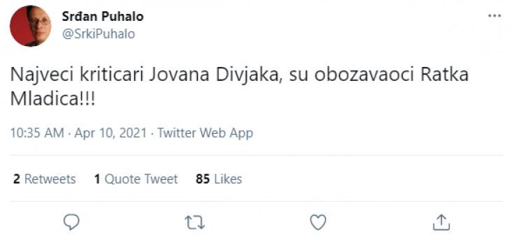 Objava na Twitteru