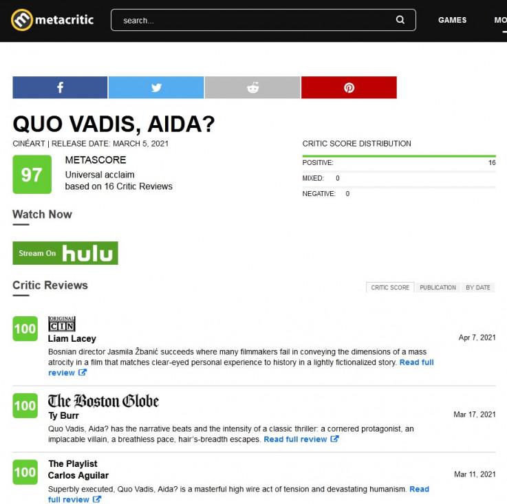Metacritic o bh. filmu