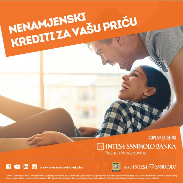Intesa Sanpaolo Banka BIH nudi klijentima nenamjenske i stambene kredite prilagođene novim uslovima života