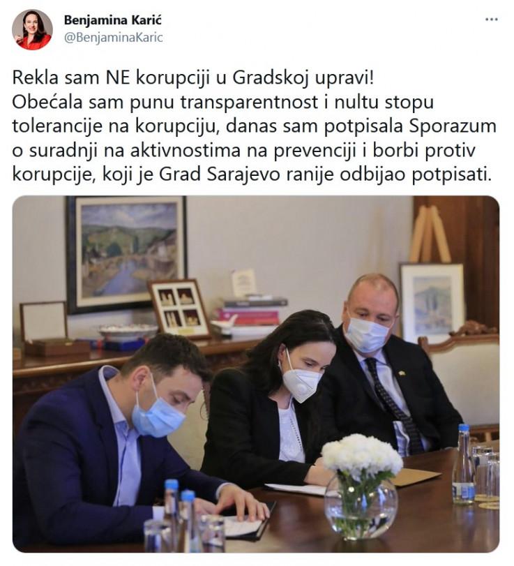 Status gradonačelnice Sarajeva