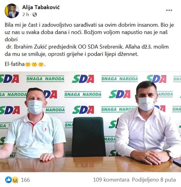 Tužnu vijest potvrdio Tabaković