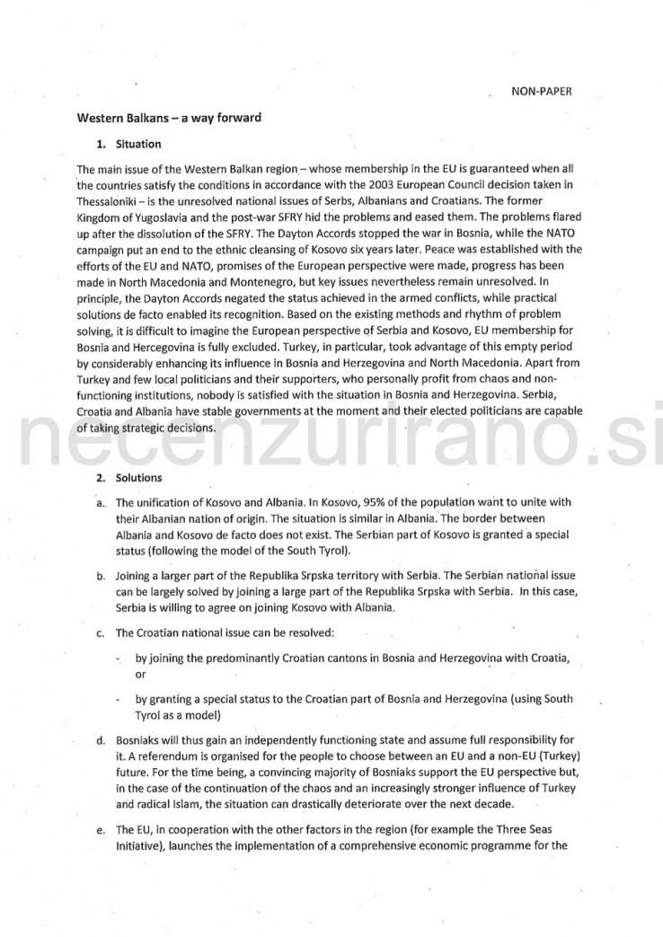 Faksimil dokumenta koji je objavio slovenski portal